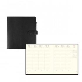 Agenda EXACOMPTA Eurotime 18 Rialto Noir - 170x150mm - 1 Semaine sur 2 pages