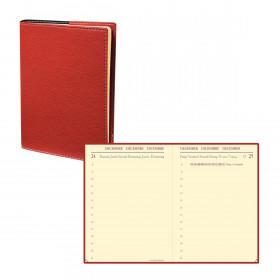 Agenda QUOVADIS MINIDAY ML Club rouge cerise - 7x10cm - 1 jour par page
