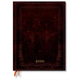 Agenda PAPERBLANKS Flexible Noir Marocain Uni - Ultra - 180×230mm - 1 jour par page