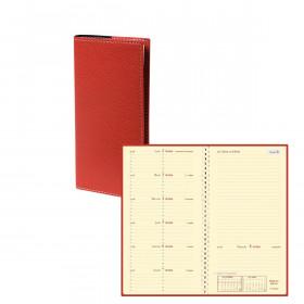 Agenda QUOVADIS ITALSEPT-S 8,8 x 17 cm - 1 semaine sur 2 pages couverture Club Rouge Cerise