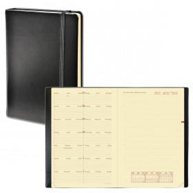 Agenda QUOVADIS NOTE 24 mutli-langues Habana noir ébene - 16x24cm - 1 semaine sur 1 page + NOTES
