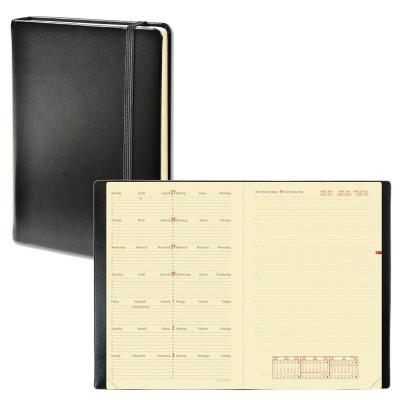 Agenda QUOVADIS NOTE 24 mutli-langues Habana noir ébene - 16x24cm - 1 semaine sur 2 pages