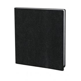 Agenda QUOVADIS Executif 16x16cm Nacre - 1 semaine sur 2 pages Vertical - Noir