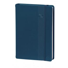 Agenda QUOVADIS Universitaire 10x15cm Silk - 1 semaine sur 2 pages Vertical - Bleu Marine