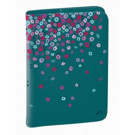 Agenda QUOVADIS Universitaire 10x15cm Bloom - 1 semaine sur 2 pages Vertical - Fleurs