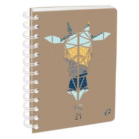 Agenda QUOVADIS Note 21S 15x21cm Authentik - 1 semaine sur 1 page Horizontal+NOTE - Girafe