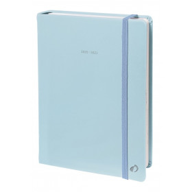 Agenda QUOVADIS Note 21 15x21cm Pastel - 1 semaine sur 1 page Horizontal+NOTE - Bleu