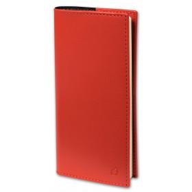 Agenda QUOVADIS Italnote S 8,8x17cm Soho - 1 semaine sur 1 page Horizontal+NOTE - Rouge Dali