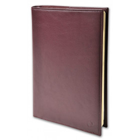 Agenda QUOVADIS Affaires Prestige 10x15cm cuir pleine fleur Montebello - 1 semaine sur 2 pages Vertical - Rouge Bordeaux