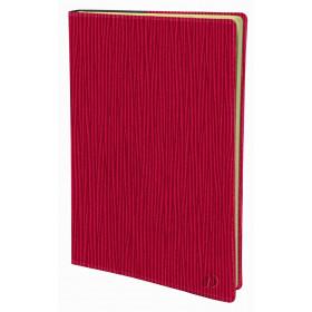 Agenda QUOVADIS Ministre Prestige 16x24cm Sahara - 1 semaine sur 2 pages Vertical - Rouge Cerise
