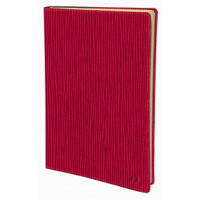 Agenda QUOVADIS Président Prestige 21x27cm Sahara - 1 semaine sur 2 pages Vertical - Rouge Cerise