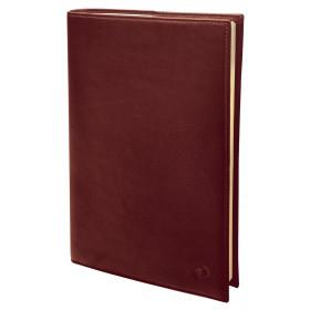 Agenda QUOVADIS Président Prestige 21x27cm cuir pleine fleur Montebello - 1 semaine sur 2 pages Vertical - Havane