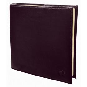 Agenda QUOVADIS Executif Prestige 16x16cm cuir pleine fleur Montebello - 1 semaine sur 2 pages Vertical - Rouge Bordeaux
