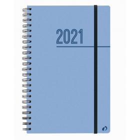 Agenda QUOVADIS Ministre S 16x24cm Oslo - 1 semaine sur 2 pages Vertical - Bleu