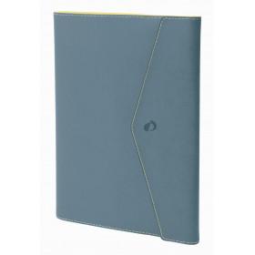 Agenda QUOVADIS Ministre S 16x24cm Clover Toscana - 1 semaine sur 2 pages Vertical - Bleu Aqua