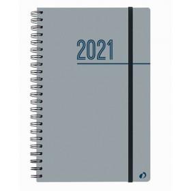 Agenda QUOVADIS Président S 21x27cm Oslo - 1 semaine sur 2 pages Vertical - Gris