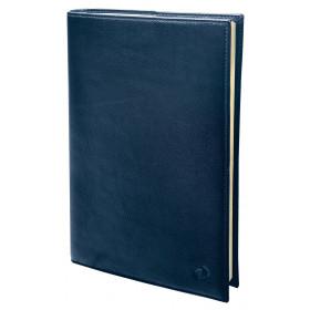 Agenda QUOVADIS Randonnée Prestige 9x12,5cm cuir pleine fleur Montebello - 1 semaine sur 2 pages Vertical - Bleu Marine