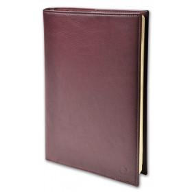 Agenda QUOVADIS Randonnée Prestige 9x12,5cm cuir pleine fleur Montebello - 1 semaine sur 2 pages Vertical - Rouge Bordeaux
