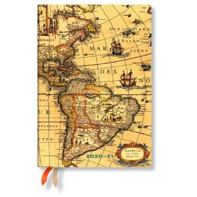 Agenda PAPERBLANKS Flexible Ancienne Cartographie - Midi - 125×175mm - 1 jour par page
