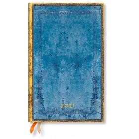 Agenda PAPERBLANKS Flexible Collection Reliure à l'Ancienne Côte d'Azur - Maxi - 135×210mm - 1 semaine sur 2 pages horizontal