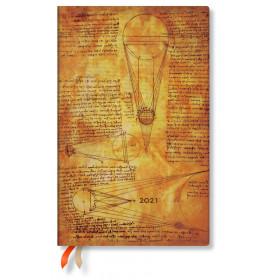 Agenda PAPERBLANKS Flexible Esquisse de Leonardo Le Soleil et la Lune - Maxi - 135×210mm - 1 semaine sur 2 pages horizontal