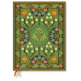 Agenda PAPERBLANKS Flexible Poésie en Fleurs Poésie en Fleurs - Ultra - 180×230mm - 1 semaine sur 2 pages vertical