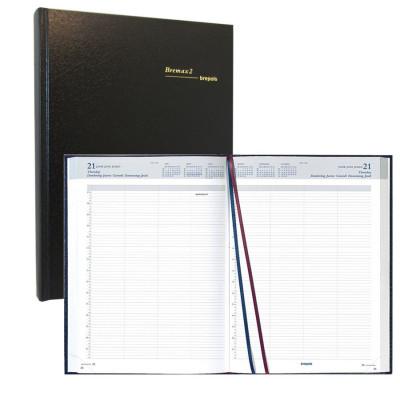 Agenda journalier BREPOLS Bremax 2 - 1 jour sur 2 pages 21 x 29 cm noir