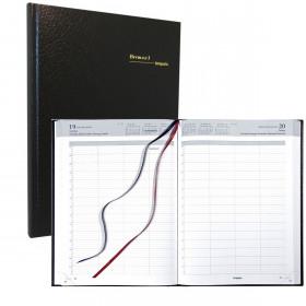 Agenda journalier BREPOLS Bremax 1 - (couverture noire) - 1 jour par page 21 x 29 cm année civile
