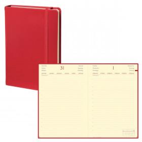 Agenda QUOVADIS DAILY 17 - 12x17cm - 1 jour par page couverture HABANA ROUGE CERISE