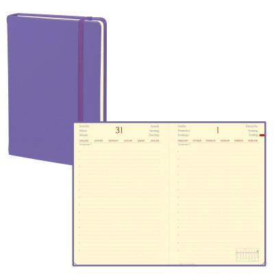 Agenda QUOVADIS DAILY POCKET - 8,5x13cm  - 1 jour par page couverture HABANA LILAS