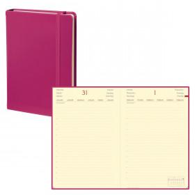 Agenda QUOVADIS DAILY POCKET HABANA - 8x13cm - ROSE FRAMBOISE - 1 jour par page