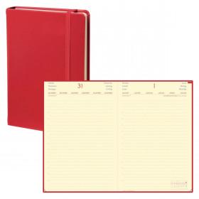 Agenda QUOVADIS DAILY 24 PRESTIGE Habana - Rouge Cerise - 16x24cm - 1 jour par page