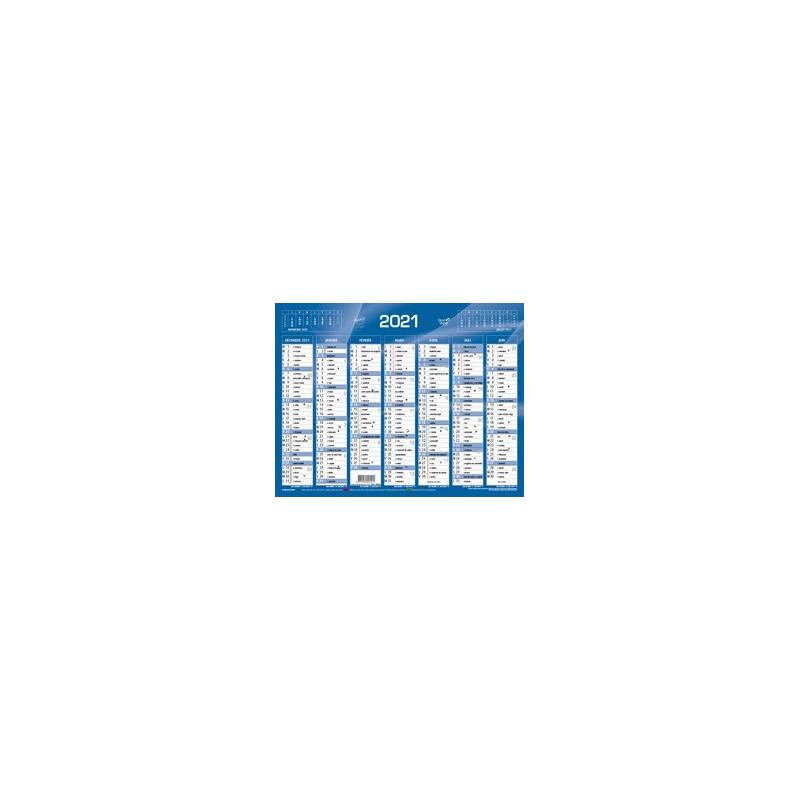 Calendrier de Banque Bleu 27x21cm carton rigide