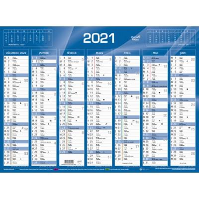 Calendrier de Banque Bleu 55x40.5cm carton rigide