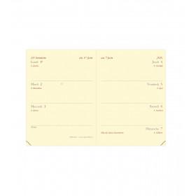 Recharge QUOVADIS Miniweek 7x10cm - 1 semaine sur 2 pages Horizontal