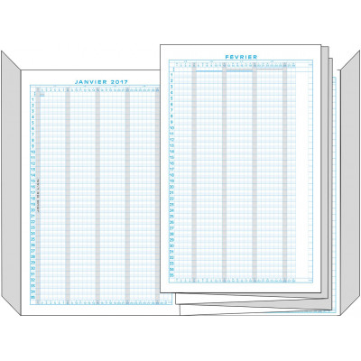Planning EXACOMPTA vacances et absences 29,7x20cm - Décembre à Décembre