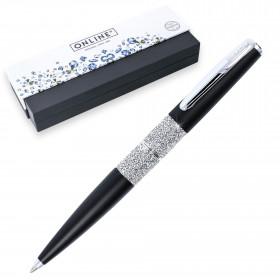 Stylo bille cristaux SWAROVSKI - noir - M (0,5 mm) - NOIR