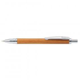 Stylo bille bois Bamboo marron - M (0,5 mm) NOIR