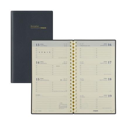 Agenda Plan BREPOLS Interplan 9 x 16 cm à spirales - 1 semaine sur 2 pages