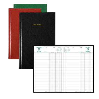 Agenda EXACOMPTA Carré recettes-dépenses - 210x135mm - 1 jour par page - (COULEURS ALEATOIRES)