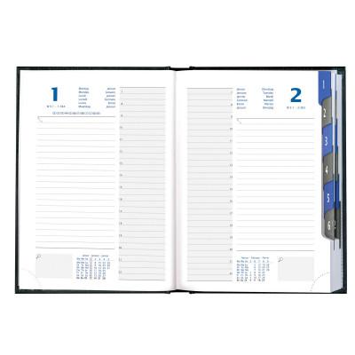 Agenda EXACOMPTA Time 21 Silva - 15x21cm - 1 jour par page (COLORIS ALEATOIRES)
