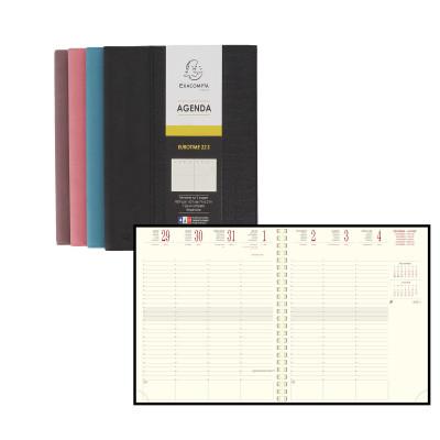 Agenda EXACOMPTA Eurotime 22S Baby Croco - 225x185mm - 1 semaine sur 2 pages - spirale (COLORIS ALEATOIRES)