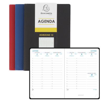 Agenda EXACOMPTA Horizon 13 Cassandra - 130x90mm - 1 semaine sur 2 pages (COLORIS ALEATOIRES)