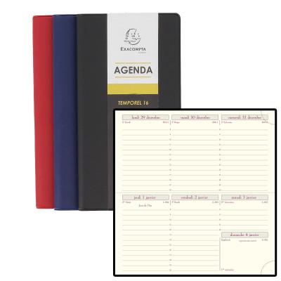 Agenda EXACOMPTA de poche TEMPOREL 16 Barbara - 160x85mm - 1 semaine sur 2 pages (COLORIS ALEATOIRES)