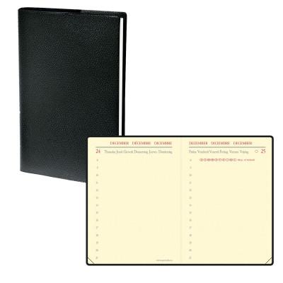 Agenda QUOVADIS Miniday ML 7x10cm - 1 jour par page - NOIR