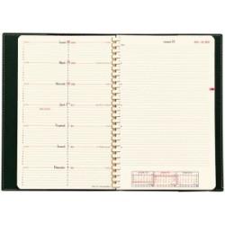 Agenda QUOVADIS Note 24® S 16 x 24 cm - 1 semaine sur 2 pages - spirale