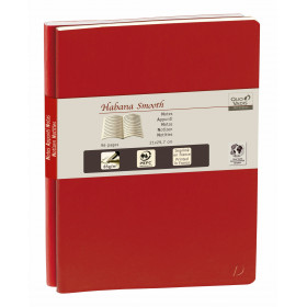 Carnet QUOVADIS ligné DUO 29 Habana Smooth rouge cerise 21x29,7cm