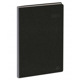 Agenda QUOVADIS CONSUL Toscana noir - 21x29,7cm - 1 semaine sur 2 pages
