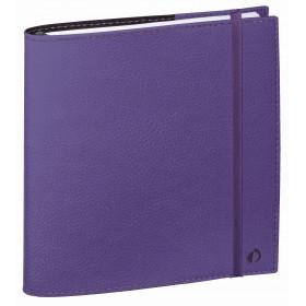 Agenda QUOVADIS TIME&LIFE MEDIUM violet - 16x16cm - 1 semaine sur 2 pages