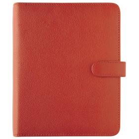 Organiseur OBERTHUR 21 GRACETOWN en cuir de vachette couleur rouge - format 19x23cm
